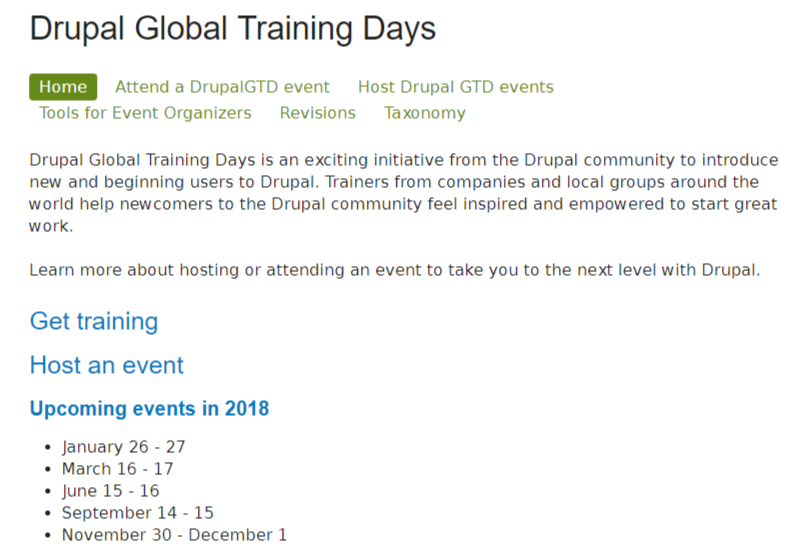 Drupal Global Training Days  2018