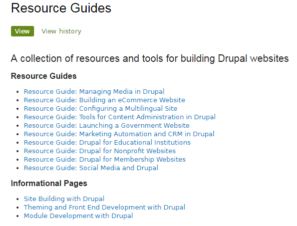 Drupal Resource Guide
