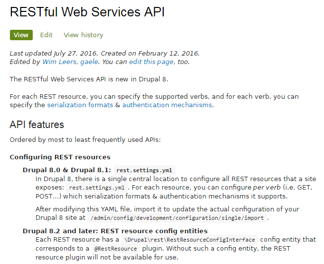 RESTful Web Service API