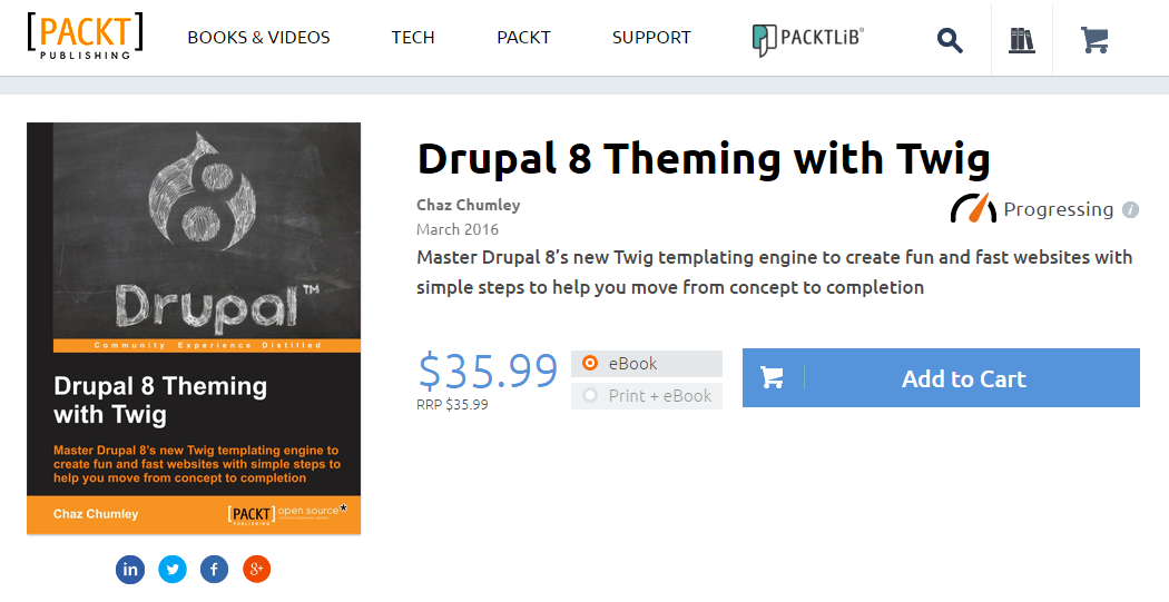 PACKT社 Drupal 8 Theming with Twig