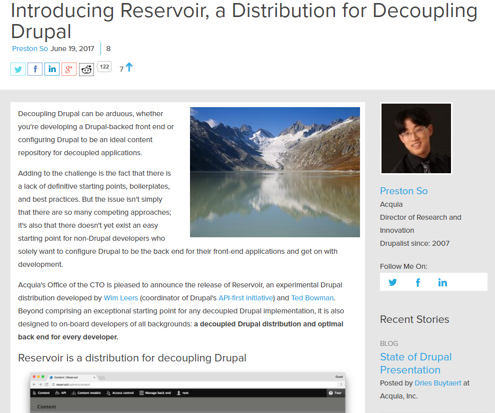 Reservoir is a back end for your front end: a content repository. Uses JSON API and OAuth2.