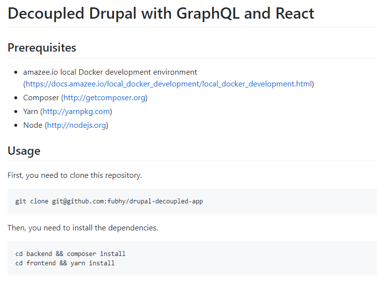 Decoupled Drupal demo application based on React, GraphQL and Apollo including server-side rendering.