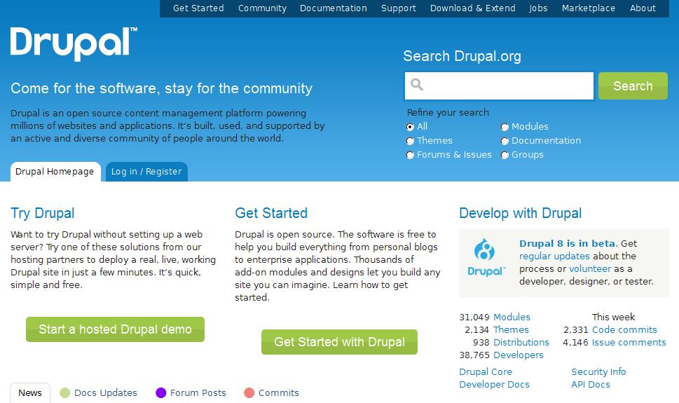 Drupal.orgサイト